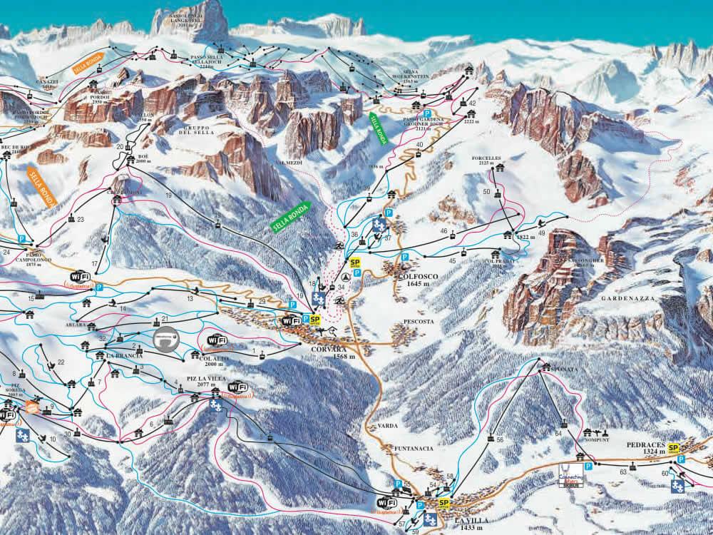 Sking in Colfosco Alta Badia Dolomiti Superski